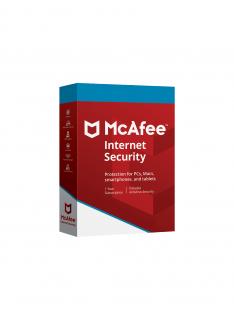 McAfee Internet Security 2019 1 Jaar 3 PC's