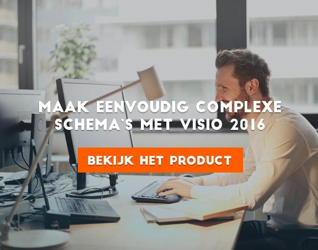 Maak eenvoudig complexe schema's met Visio 2016